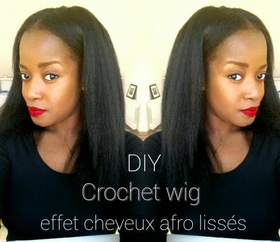 effet cheveux afro lissés